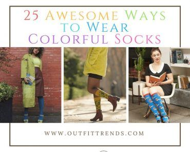 what to wear with colorful socks for women