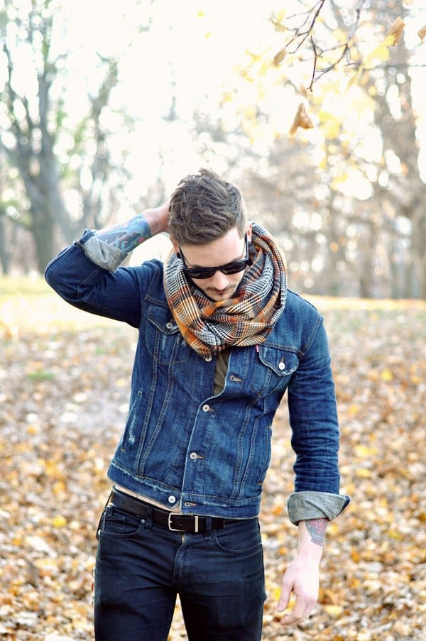 Guys Outfits with Scarves - 26 Ways to Wear a Scarf for Men