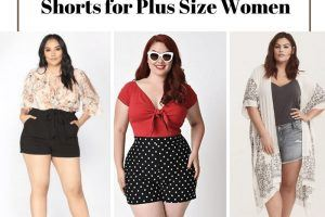 high waisted shorts outfits for plus size women