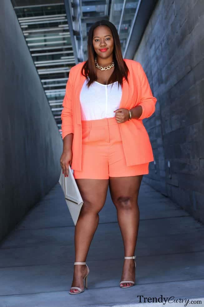 20 Ideas on How to Wear High Waisted Shorts for Plus Size ...