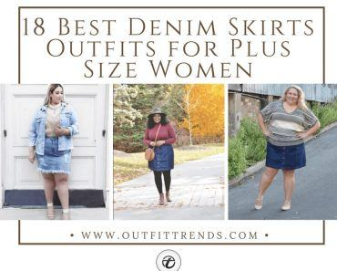 Plus size denim skirt outfits