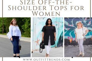 Plus Size Off-the-Shoulder Tops Outfits