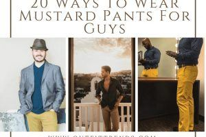 outfits with mustard pants for guys
