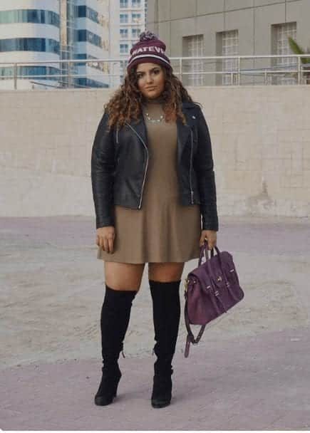 c5484fe83ac 20 Best Plus Size Outfits with Thigh High Boots to Try