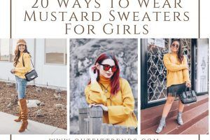 mustard sweaters