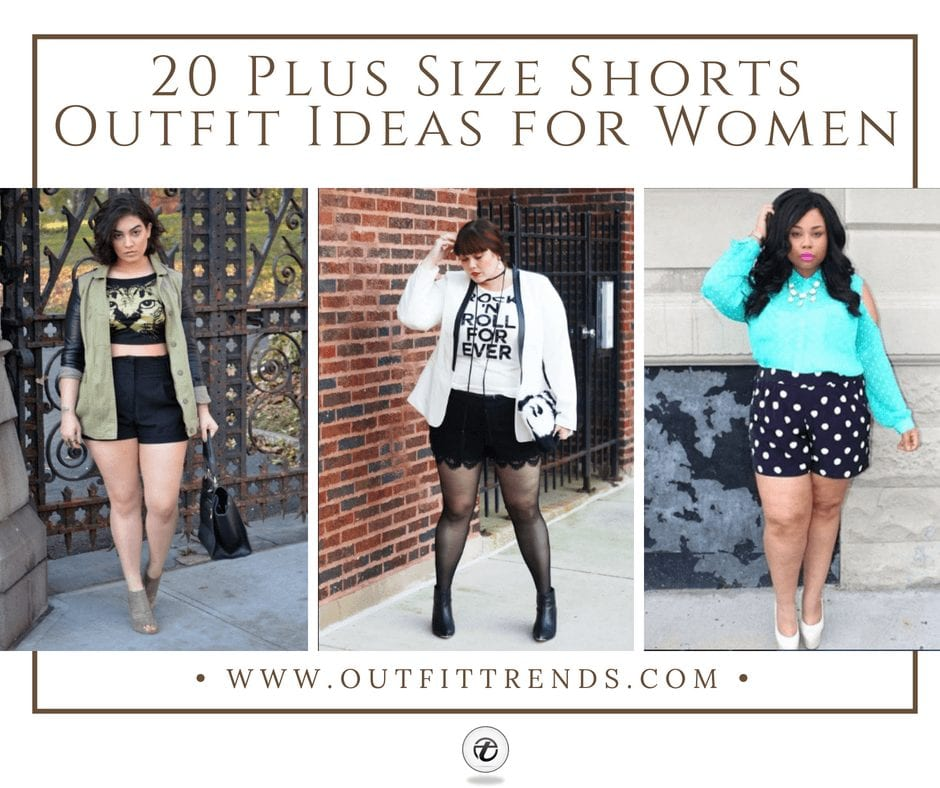 b8c9b5bc7bc How to Wear Shorts for Plus Size–20 Plus Size Shorts Outfits