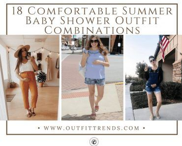18 Comfortable Summer Baby Shower Outfit Combinations