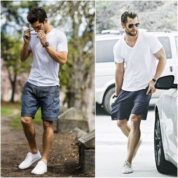 Outfits with white sneakers for men (39)