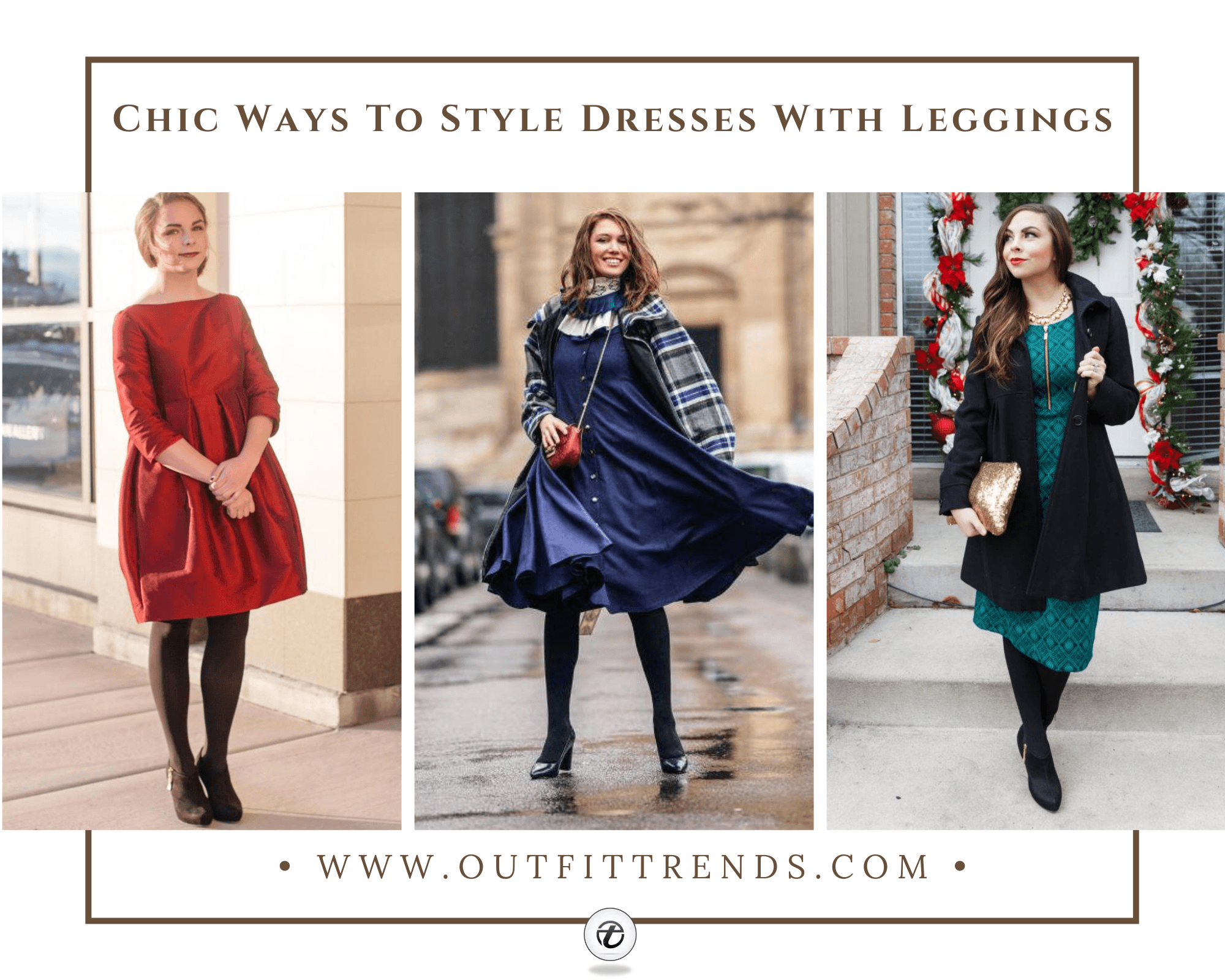 How to Wear Leggings Under A Dress 30 Legging Outfit Ideas
