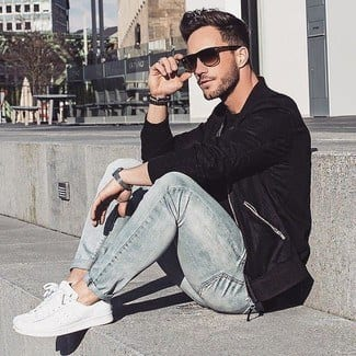 white sneakers for men outfit