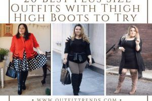 how to wear thigh high boots for curvy girls