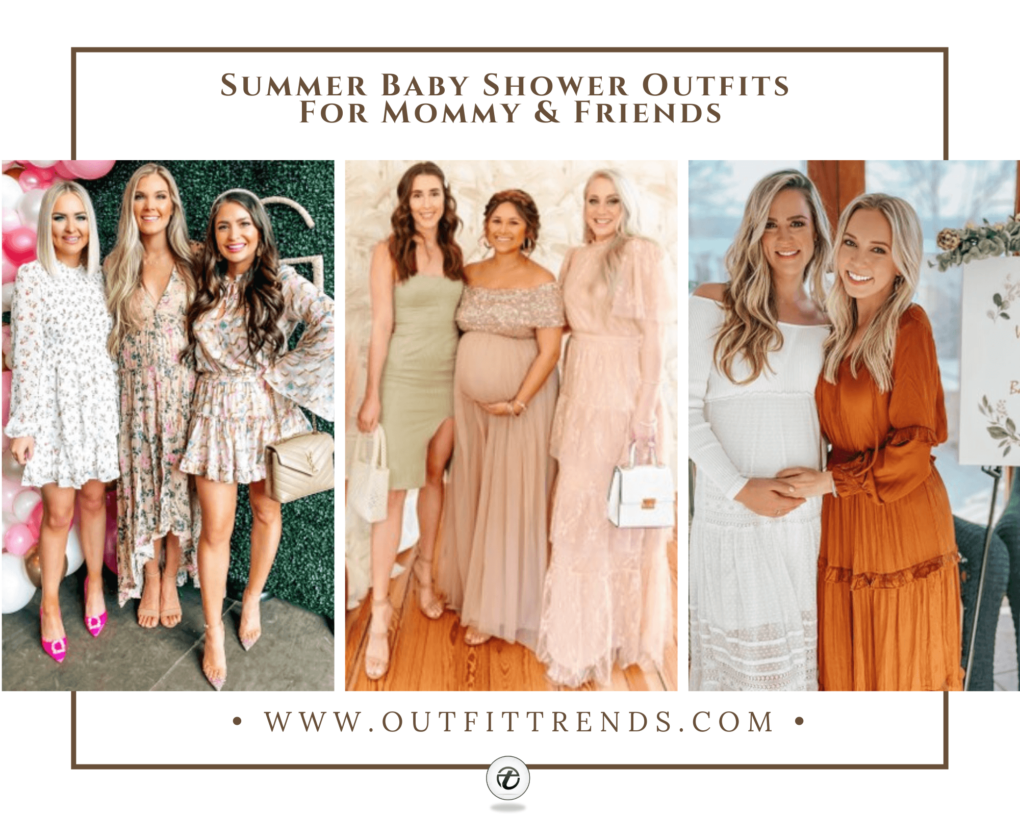 27 Comfortable Summer Baby Shower Outfits For Mommy & Guests
