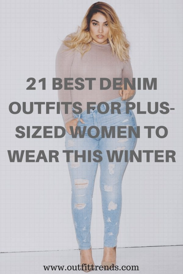 Denim Outfits for Plus Sized Women (24)