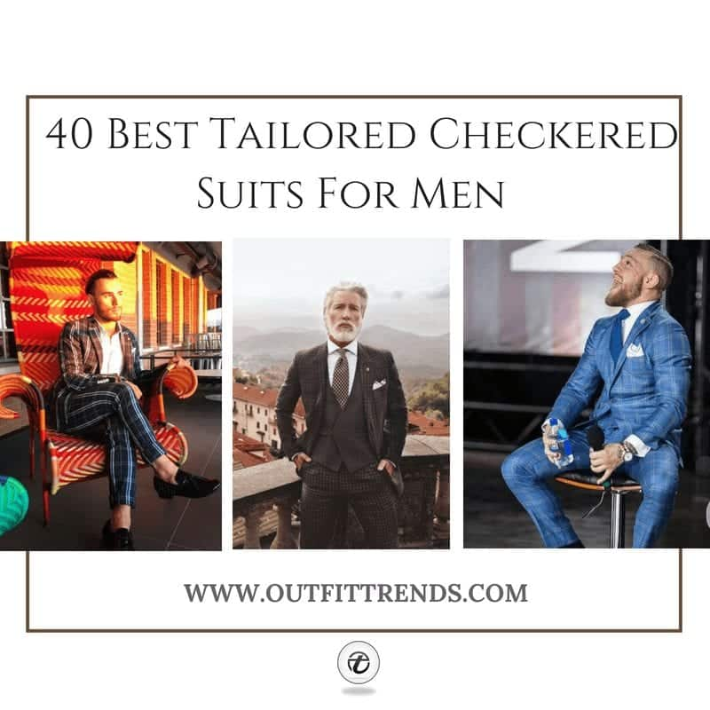tailored checkered suits for men