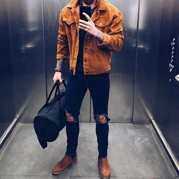 Winter jeans outfits for men (20)