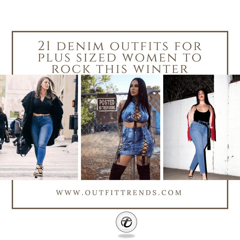 21 Best Winter Jeans Outfits for PlusSized Women to Stay Cool and Chic