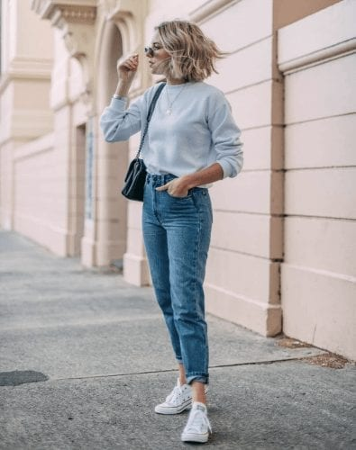 Outfits with Mom Jeans – 25 ways to wear Mom Jeans Fashionably (3)
