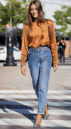 Outfits with Mom Jeans – 25 ways to wear Mom Jeans Fashionably (9)