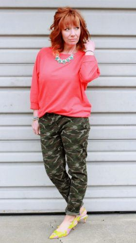 outfits with camo pants for women
