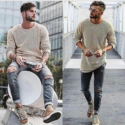Winter jeans outfits for men (2)