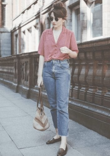 Outfits with Mom Jeans\u201325 Chic Ideas How to wear Mom Jeans