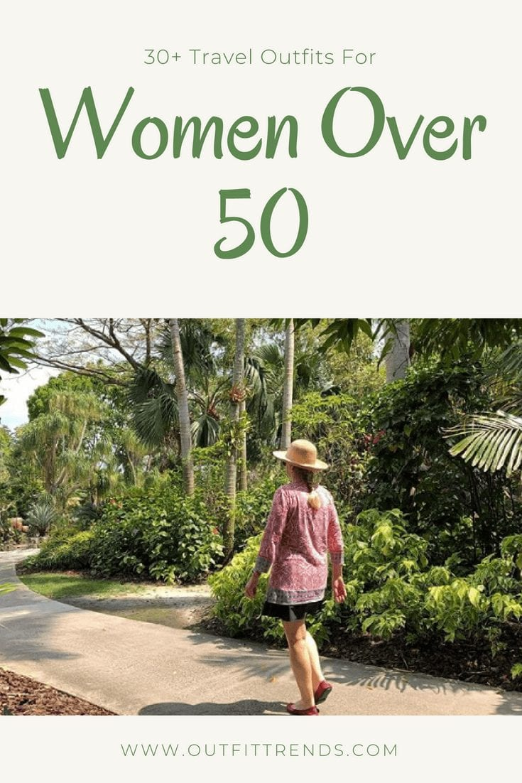 travel outfit for fifty plus women