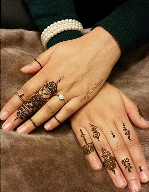 Engagement Mehndi Designs You Should Try (30)