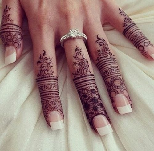 Engagement Mehndi Designs You Should Try (50)