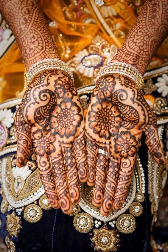 Engagement Mehndi Designs You Should Try (20)