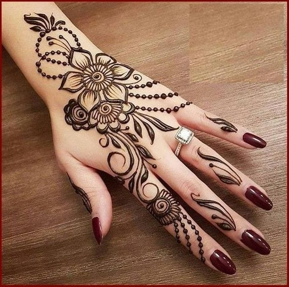 Engagement Mehndi Designs You Should Try (18)