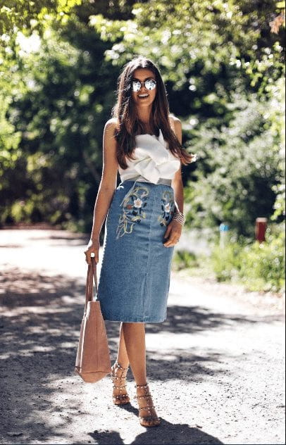 Outfit with Jeans Skirt