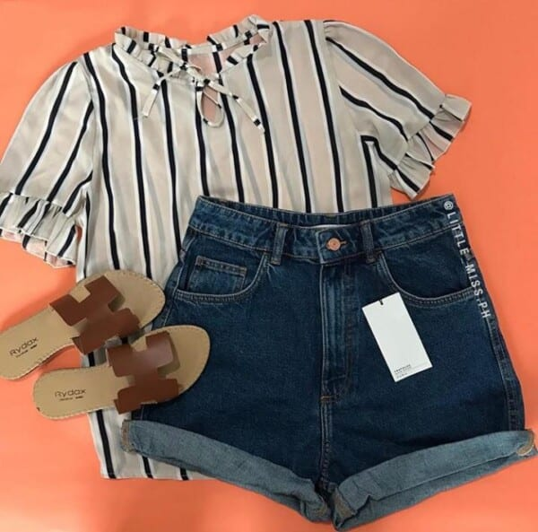 Chic Outfits with Mom Shorts (6)