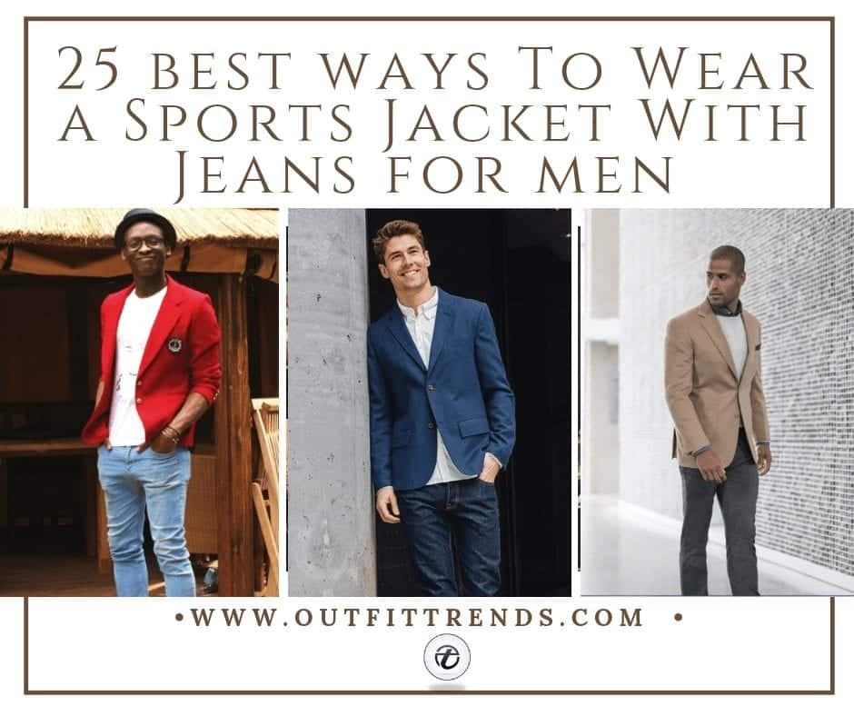 Sports Jacket With Jeans for Men