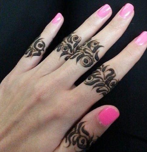 Best Mehndi Designs for Fingers (30)