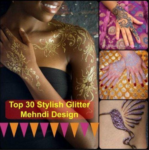 Best Glitter Mehndi Designs (27)
