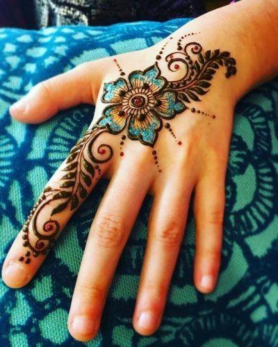 Best Glitter Mehndi Designs (25)