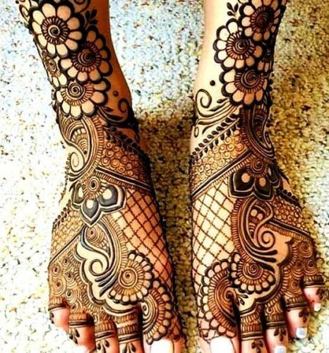 Foot Henna Art , 50 Beautiful Mehndi Designs for Feet