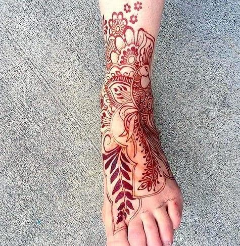 Beautiful Mehndi Designs for Feet (4)