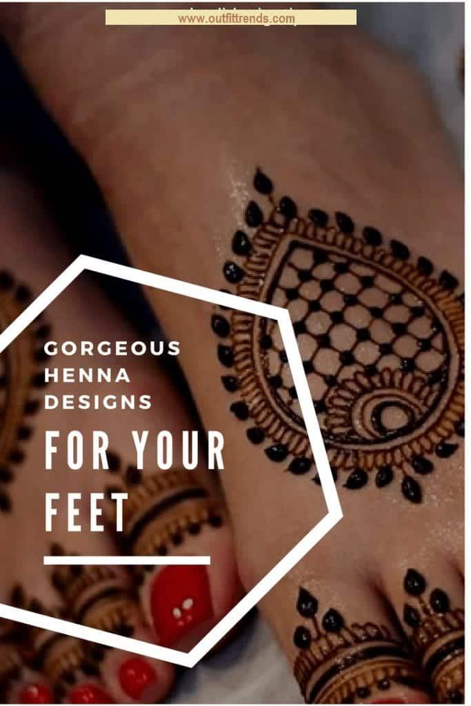 Beautiful Mehndi Designs for Feet (1)