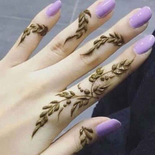 Best Mehndi Designs for Fingers (20)