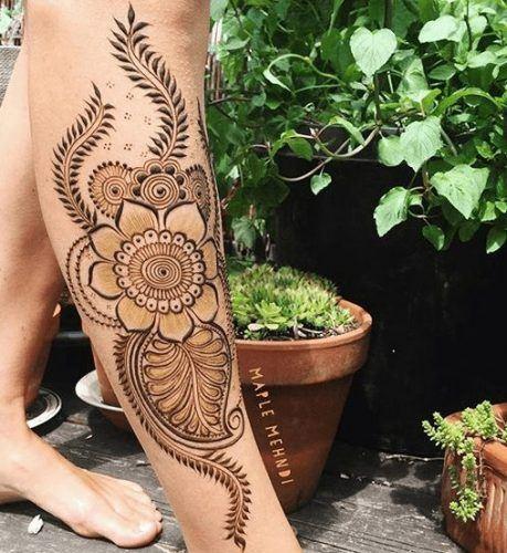 Best Leg Mehndi Designs (2)