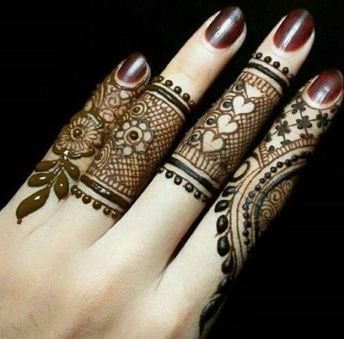 Best Mehndi Designs for Fingers (18)