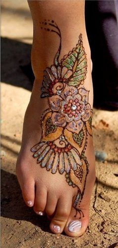 Best Glitter Mehndi Designs (19)