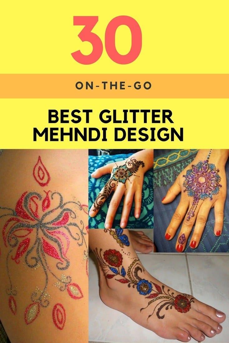 Best Glitter Mehndi Designs (14)