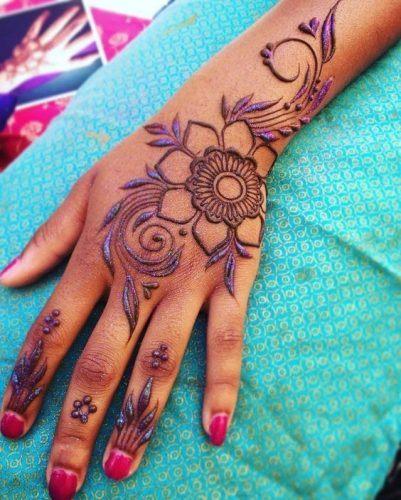 Best Glitter Mehndi Designs (11)