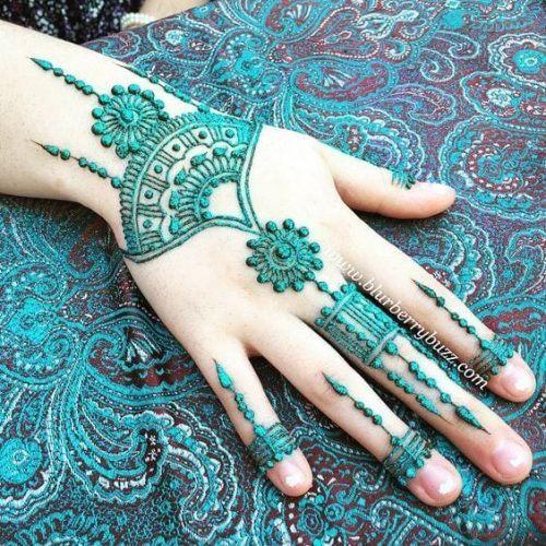 Best Glitter Mehndi Designs (10)