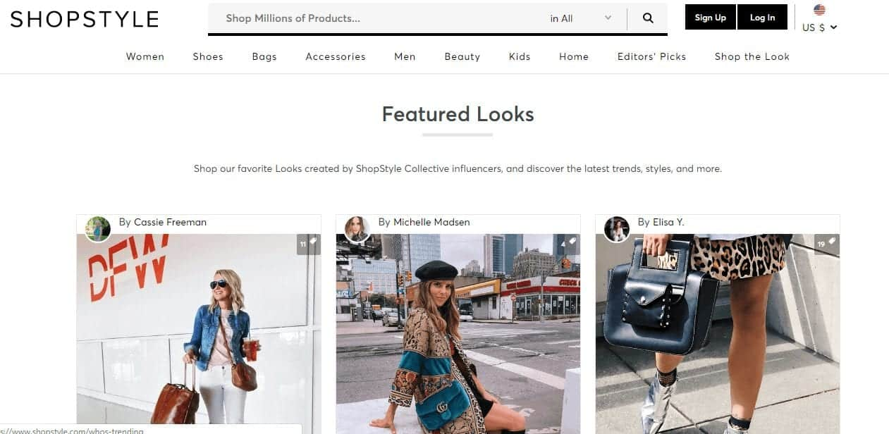 Subsitute sites and apps for polyvore