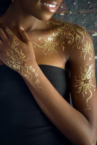 Best Glitter Mehndi Designs (8)