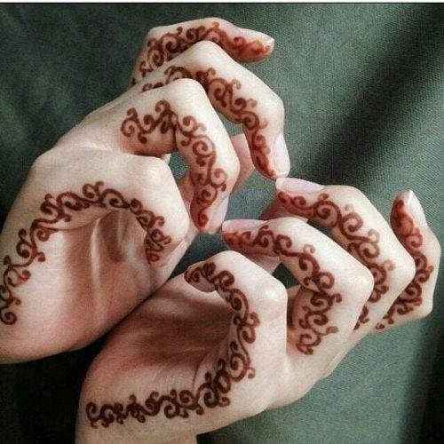 Best Mehndi Designs for Fingers (10)