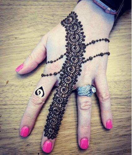 Best Mehndi Designs for Fingers (5)